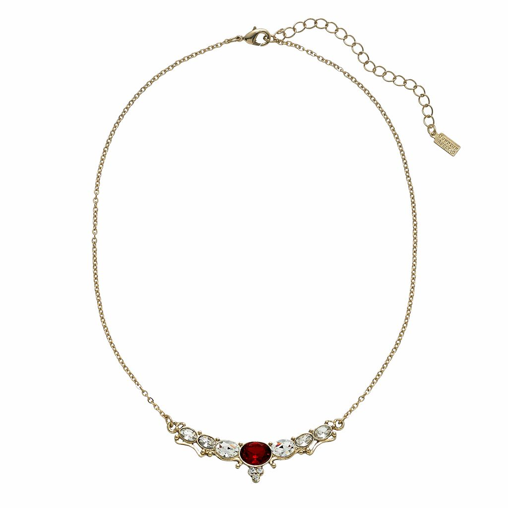 Downton Abbey® Gold Tone Simulated Crystal Necklace
