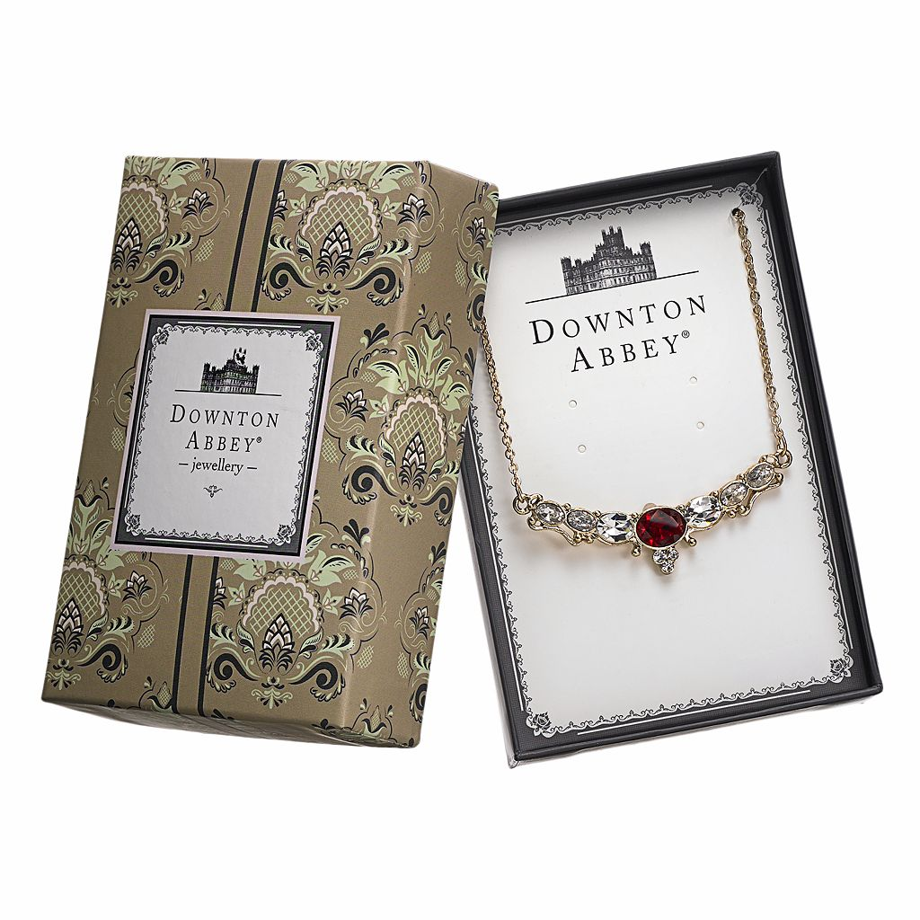 Downton Abbey Gold Tone Simulated Crystal Necklace