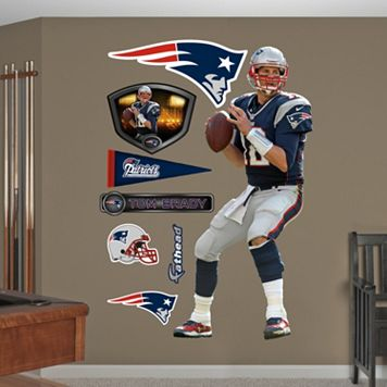 Fathead New England Patriots Tom Brady 8-Piece Wall Decals