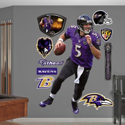 Fathead Baltimore Ravens Joe Flacco Wall Decals