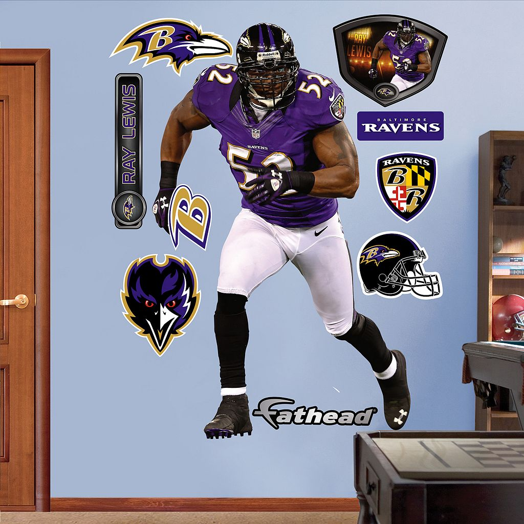 Fathead Baltimore Ravens Ray Lewis Wall Decals