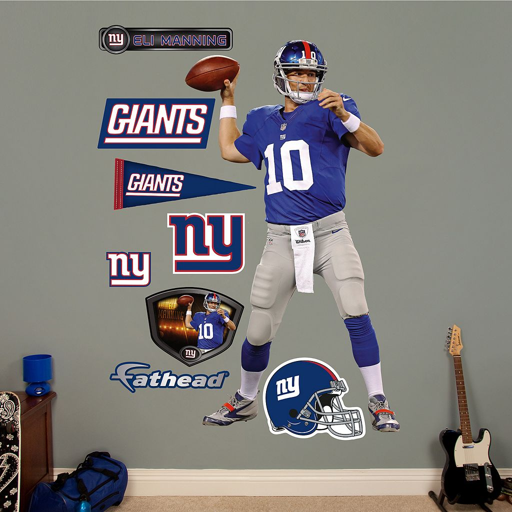 Fathead New York Giants Eli Manning Wall Decals