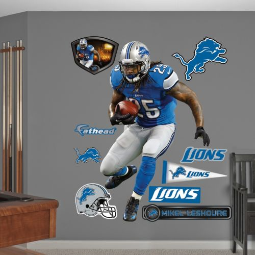 Fathead Detroit Lions Mikel Leshoure Wall Decals