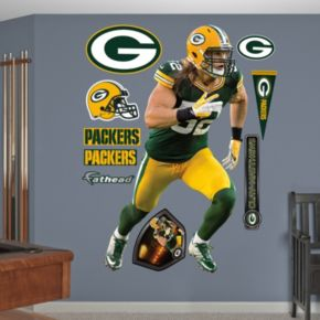 Fathead Green Bay Packers Clay Matthews Running Wall Decals