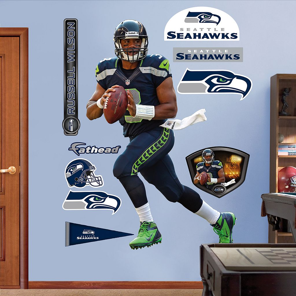 Fathead Seattle Seahawks Russell Wilson Wall Decals