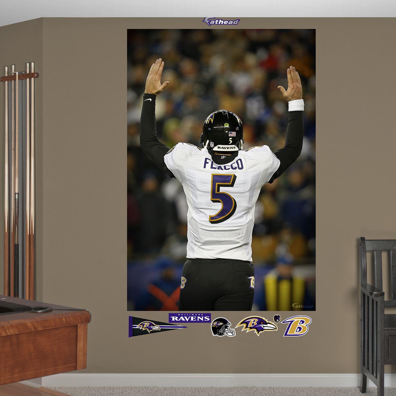 Fathead Baltimore Ravens Joe Flacco Playoff Touchdown Wall Decals & NFL Baltimore Ravens Wall Decals Wall Decor Home Decor | Kohlu0027s