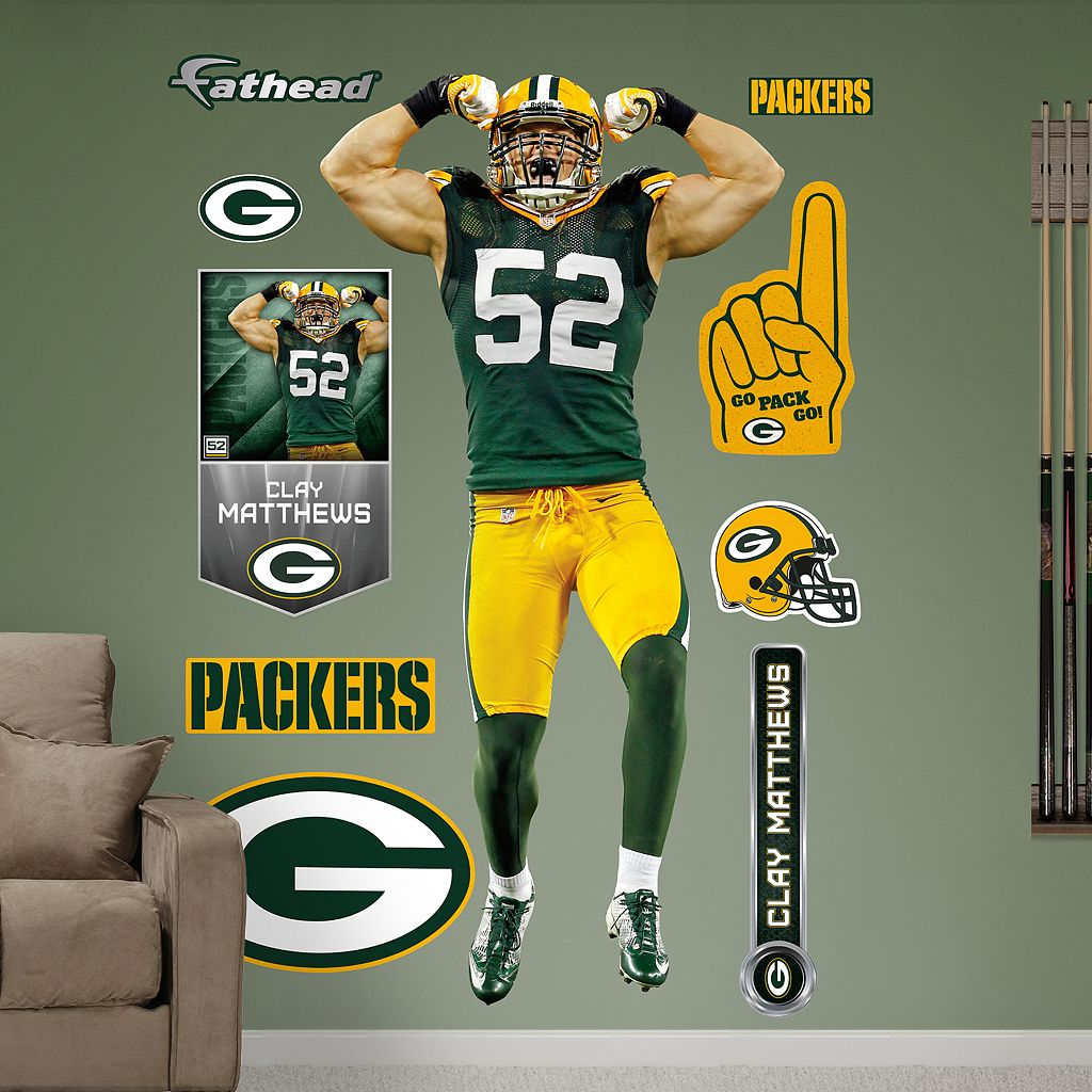 Fathead Green Bay Packers Clay Matthews Wall Decals