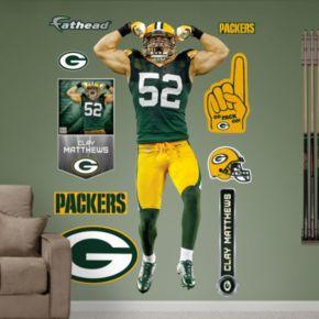 Fathead Green Bay Packers Clay Matthews Wall Decals