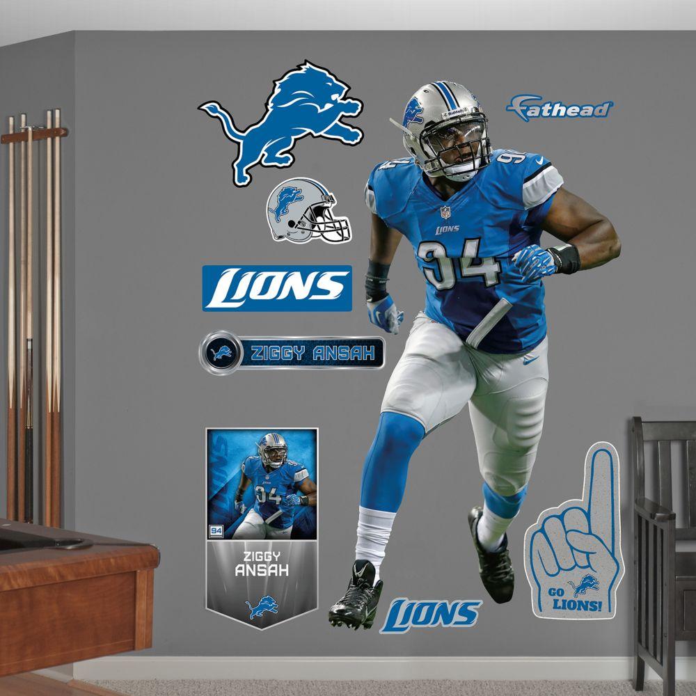 Detroit Lions Ziggy Ansah Wall Decals