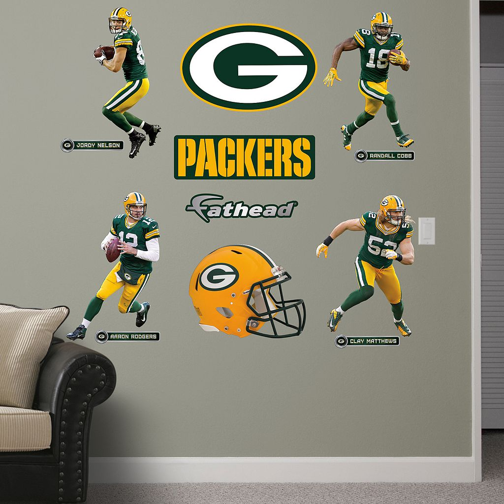Fathead Green Bay Packers Power Pack Wall Decals