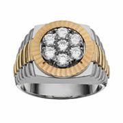 10k Gold Two Tone 1 ctT.W. Diamond Ring - Men