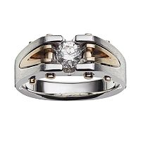 10k Gold Two Tone 1/2-ct. T.W. Diamond Ring - Men