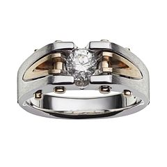 10k Gold Two Tone 1/2 ctT.W. Diamond Ring - Men
