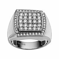 10k White Gold 1 1/2-ct. T.W. Diamond Cluster Ring - Men