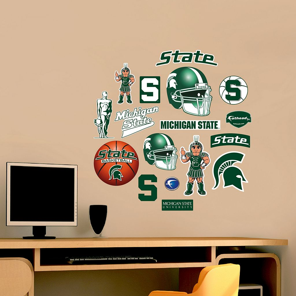 Fathead Michigan State Spartans Team Logo Assortment Wall Decals
