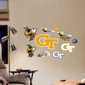 Fathead Georgia Tech Yellow Jackets Team Logo Assortment Wall Decals