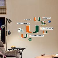 Fathead Miami Hurricanes Team Logo Assortment Wall Decals