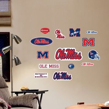 Fathead Ole Miss Rebels Team Logo Assortment Wall Decals