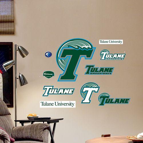 Fathead Tulane Green Wave Team Logo Assortment Wall Decals