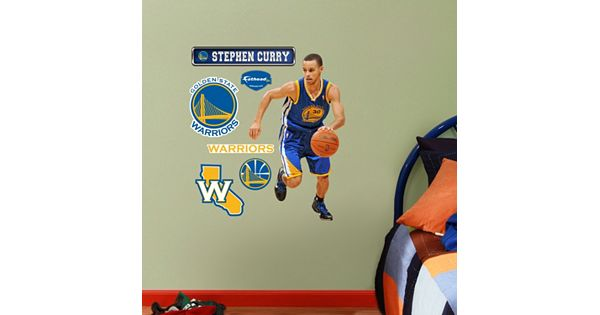 Youtube Warriors Come Out And Play: Fathead Jr. Golden State Warriors Stephen Curry Wall Decals