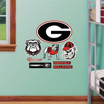 Fathead Georgia Bulldogs Team Logo Assortment Wall Decals