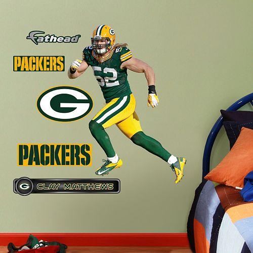 Fathead Jr. Green Bay Packers Clay Matthews Wall Decals