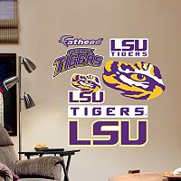 Fathead LSU Tigers Team Logo Assortment Wall Decals