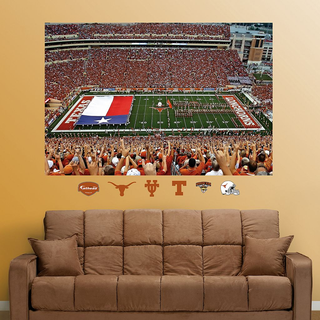 Fathead Texas Longhorns Darrell K Royal-Texas Memorial Stadium Wall Decals