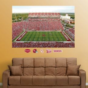 Fathead Oklahoma Sooners Gaylord Family Oklahoma Memorial Stadium Wall Decals