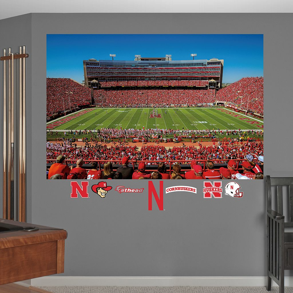 Fathead Nebraska Cornhuskers Memorial Stadium Wall Decals