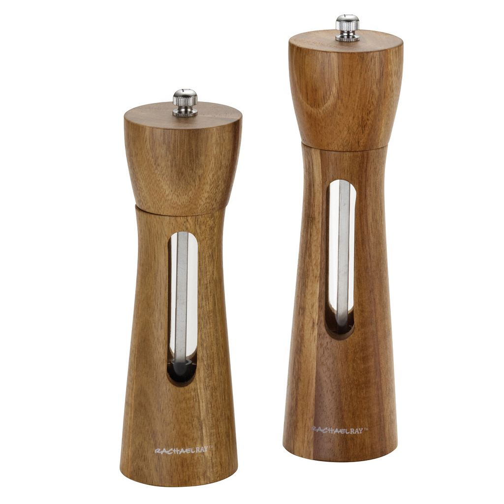 Rachael Ray 2-pc. Acacia Salt & Pepper Grinder Set