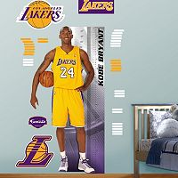 Fathead Los Angeles Lakers Kobe Bryant Growth Chart Wall Decals