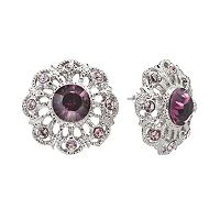 1928 Openwork Button Stud Earrings