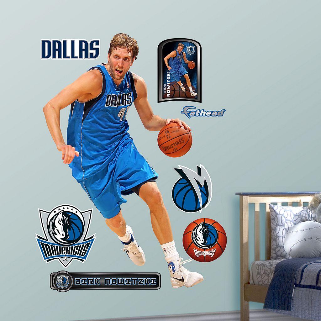 Fathead Dallas Mavericks Dirk Nowitzki Wall Decals