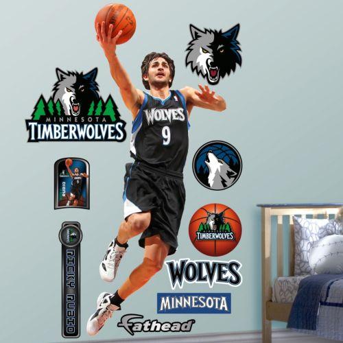 Fathead Minnesota Timberwolves Ricky Rubio Wall Decals