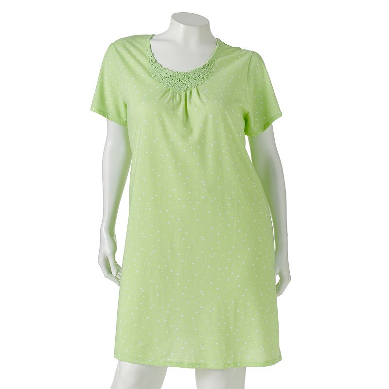 Croft & Barrow Pajamas: Knit Sleep Shirt - Women's Plus