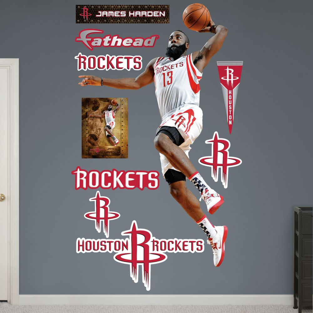 houston rockets james harden wall decals fathead houston rockets james harden wall decals