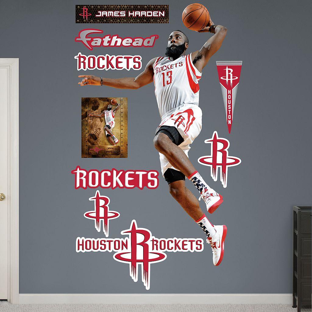 Fathead Houston Rockets James Harden Wall Decals