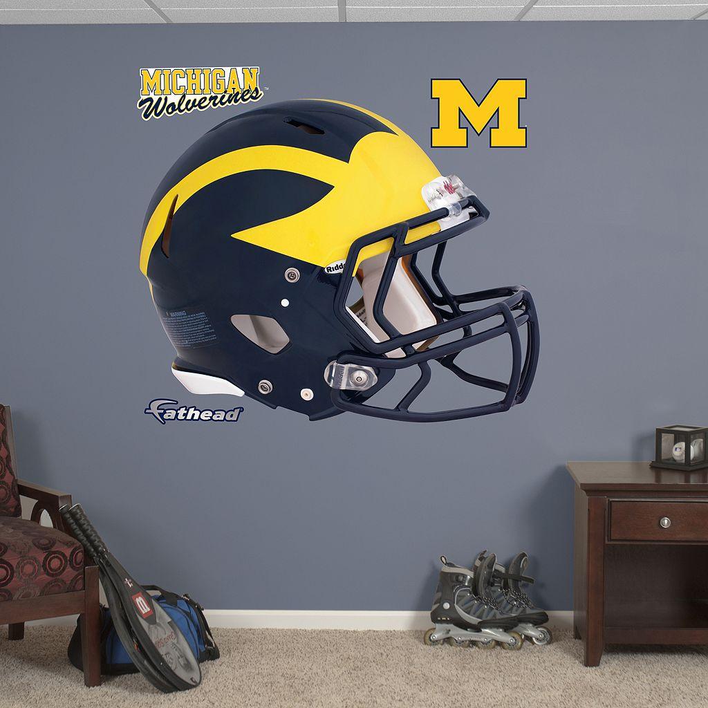 Fathead Michigan Wolverines Helmet Wall Decals