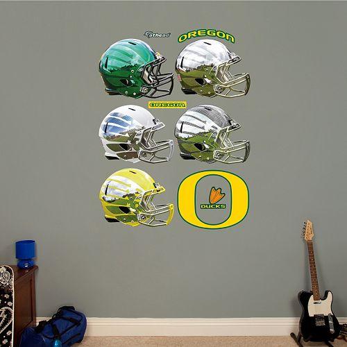 Fathead Oregon Ducks Helmet Collection Wall Decals