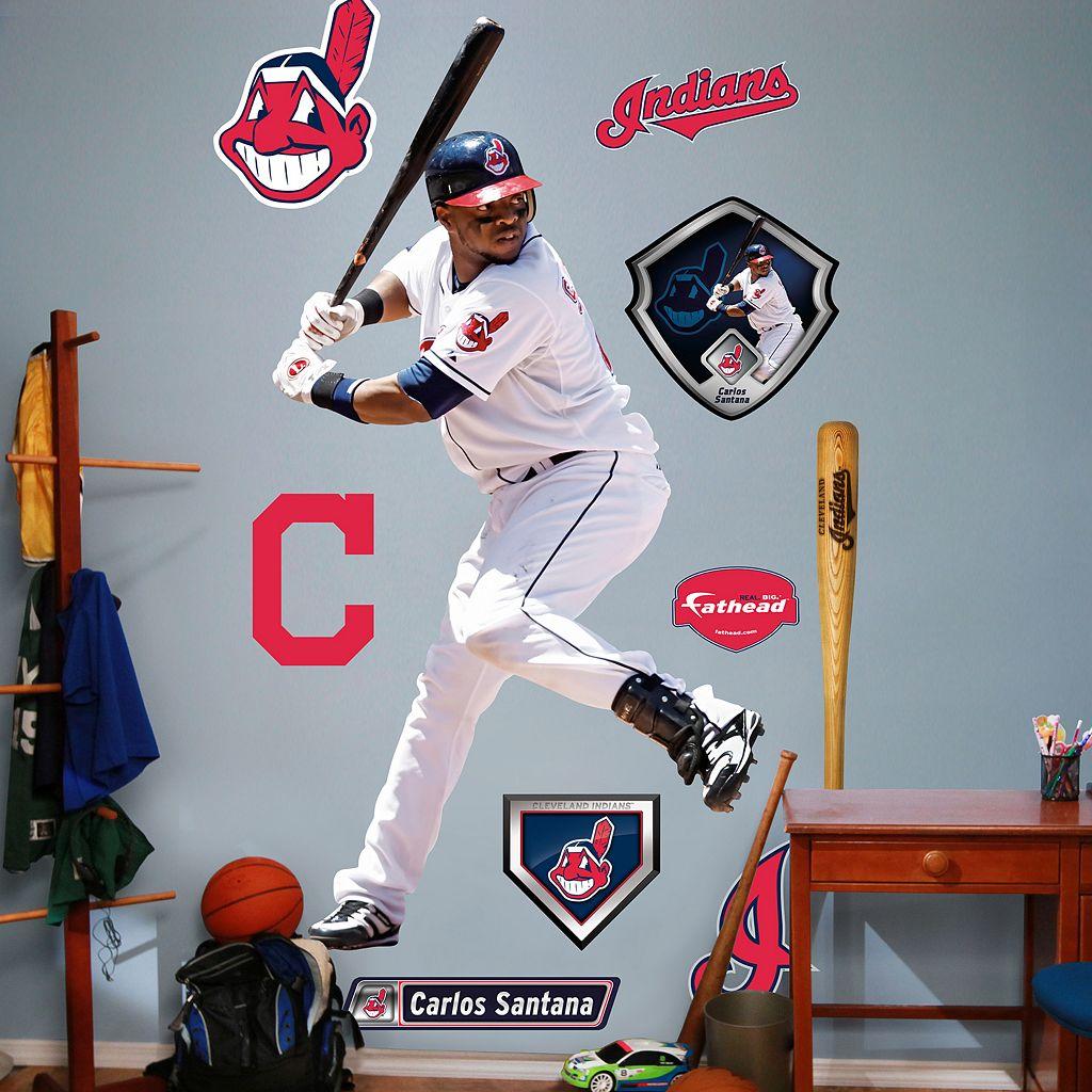 Fathead Cleveland Indians Carlos Santana Wall Decals