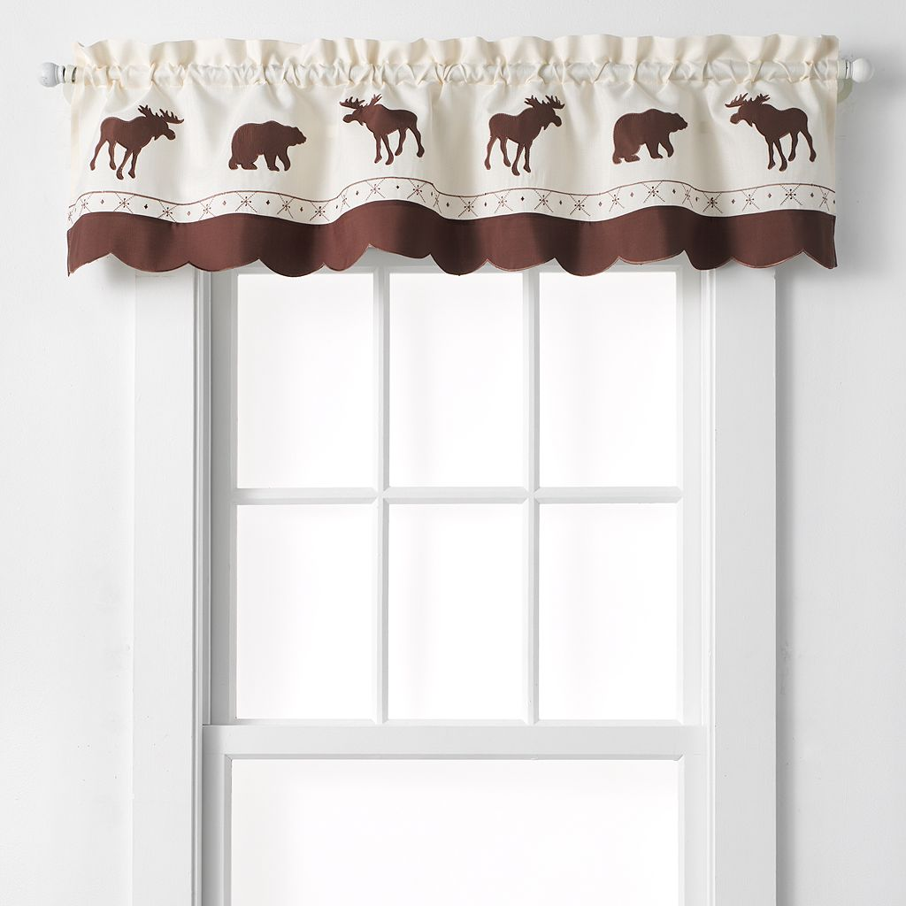 CHF Forest Moose & Bear Tailored Kitchen Valance - 58