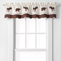 CHF Forest Moose & Bear Tailored Kitchen Window Valance - 58