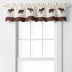 CHF Forest Moose & Bear Tailored Kitchen Window Valance - 58' x 14'