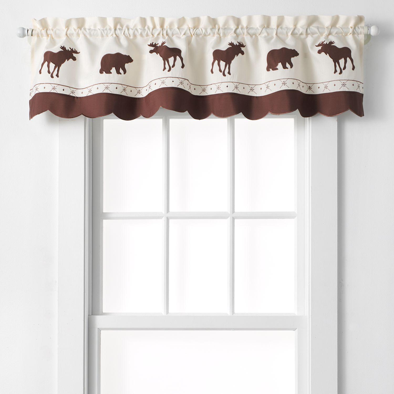 CHF U0026 You Forest Moose U0026 Bear Tier Kitchen Window Curtains