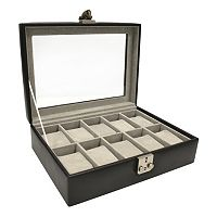 Royce Leather Debonair 10-Slot Watch Box