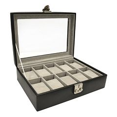 Royce Leather Debonair 10-Slot Watch Box