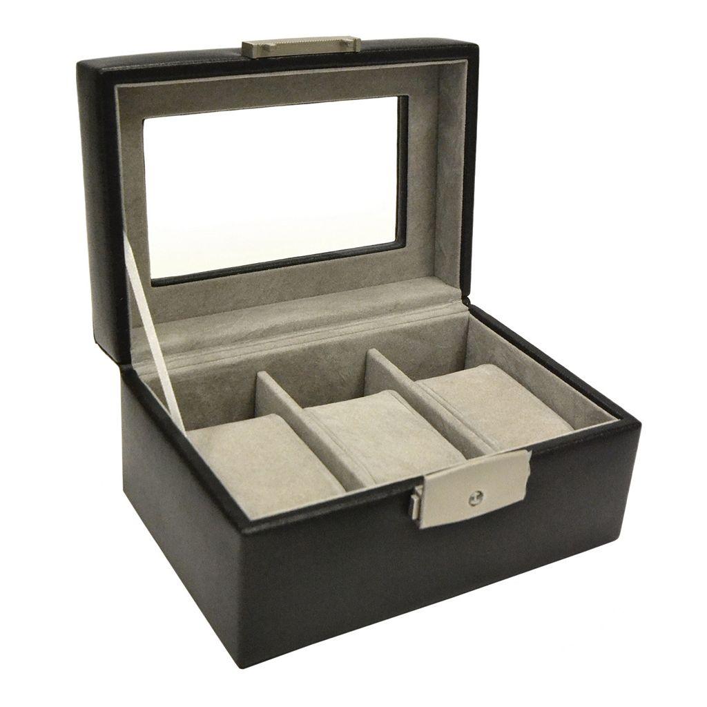Royce Leather Luxury 3-Slot Watch Box