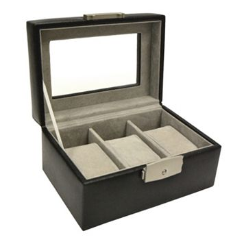 Royce Leather Luxury 3-Slot Watch Box