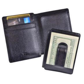 Royce Leather Saffiano Money Clip ID Wallet